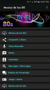 Musica de los 80 screenshot 4