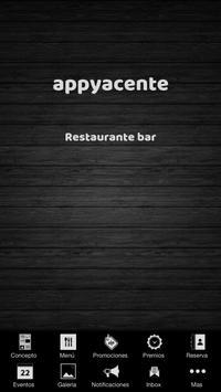 Appyacente restaurante bar poster
