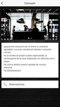 Appyacente restaurante bar screenshot 1