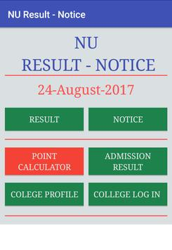 NU BD RESULTS & NOTICE poster
