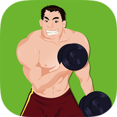 Men Dumbbell Strength Workout icon