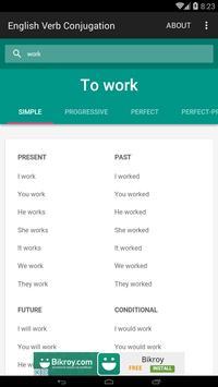 English Verb Conjugation screenshot 3