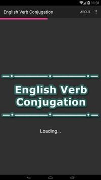 English Verb Conjugation poster
