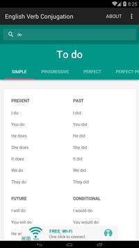 English Verb Conjugation screenshot 1
