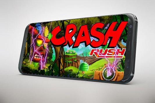 Subway Crash adventure rush *Bandicot game* poster