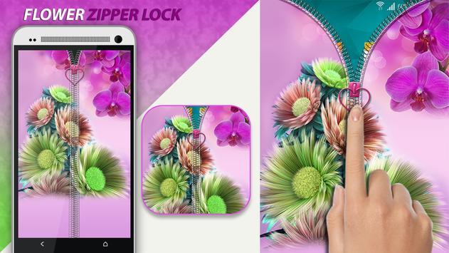 Flower Zipper Lock poster