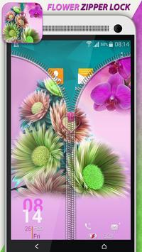 Flower Zipper Lock apk screenshot