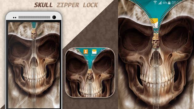 Skull Zipper Lock poster