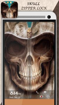 Skull Zipper Lock apk screenshot