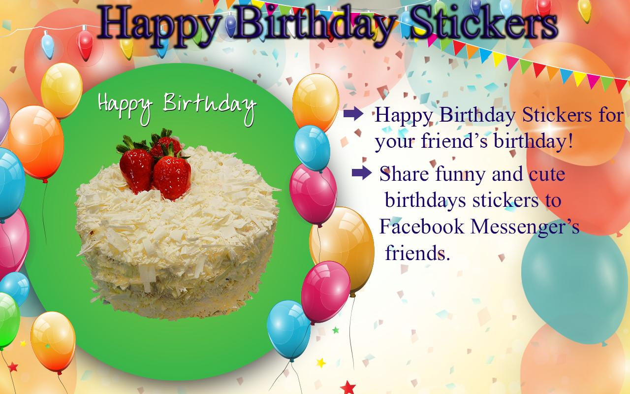 Happy birthday stickers screenshot 8