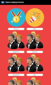 Opera singing lessons poster