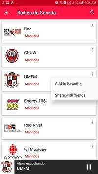Radios from Canada screenshot 2