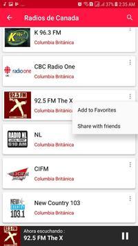Radios from Canada screenshot 5
