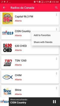 Radios from Canada screenshot 6