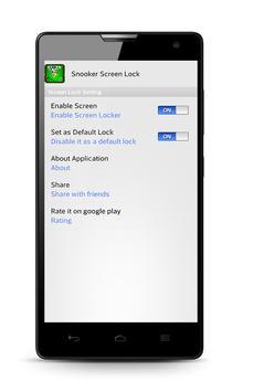 Snooker Screen Lock apk screenshot