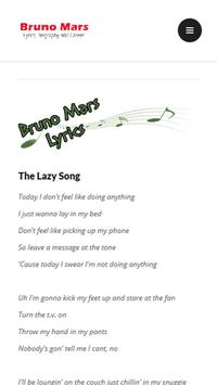 Bruno Mars Lyrics apk screenshot