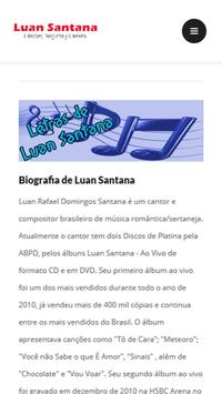 Letras de Luan Santana apk screenshot