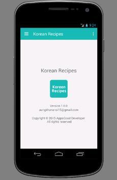 Korean Recipes apk screenshot