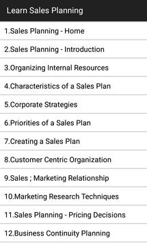 Learn Sales Planning poster