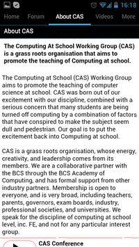 Computing at School (CAS) apk screenshot