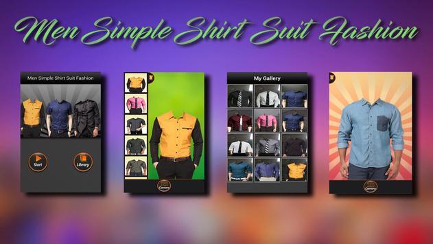 Men Simple Shirt Suit Fashion poster