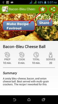 Cheese Balls Cookbook Free apk screenshot
