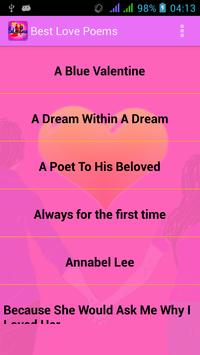 Best Love Poems poster