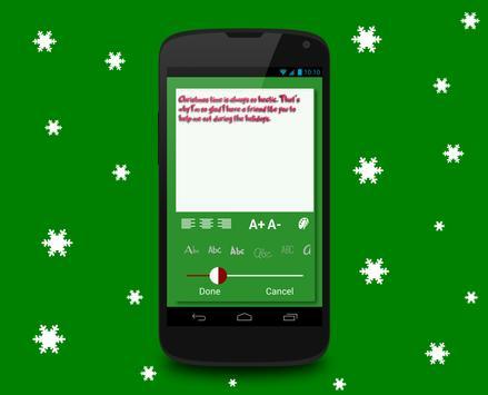 Christmas card maker apk screenshot