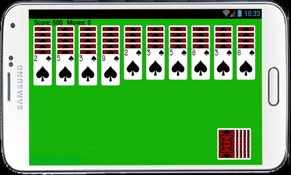 Spider Solitaire Free Game HD poster