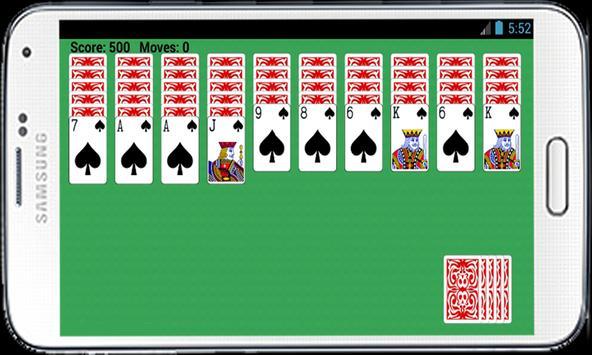 Spider Solitaire Free Game apk screenshot