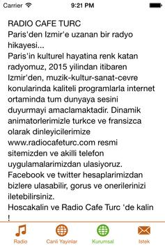 Radio Café Turc screenshot 2