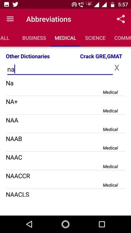 Abbreviation Dictionary Offline Screenshot 7