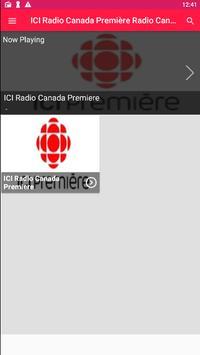 ICI Radio Canada Première Radio Canada Radio App poster