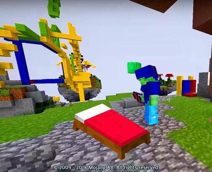 Poster Minecraft Letto Wars Gioco Mod