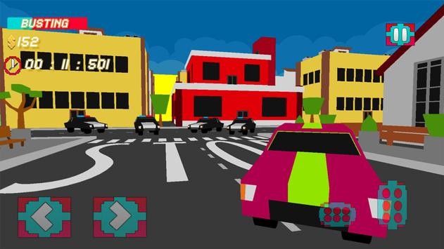 Police Chase 3D : Blocky Evade poster