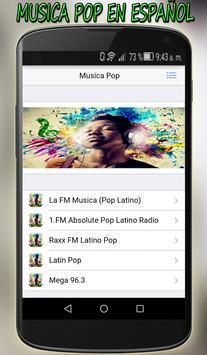 Musica Pop en Español Gratis apk screenshot
