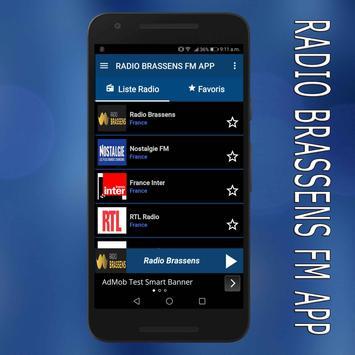 radio Brassens fm:Brassens radio en ligne app poster