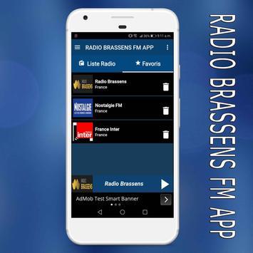 radio Brassens fm:Brassens radio en ligne app screenshot 2