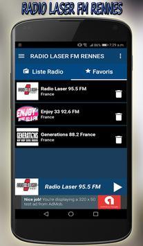 radio laser fm Rennes direct gratuit app screenshot 3