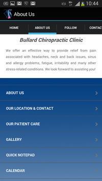 Bullard Chiropractic Clinic apk screenshot