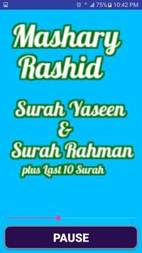 Mishary Rashid Surah(Yasin & Rehman)Audio Offline screenshot 1