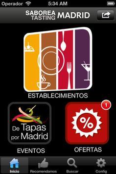 Saborea-Tasting  Madrid poster
