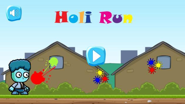 Holi Run poster