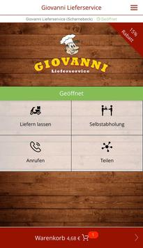 Giovanni Lieferservice poster