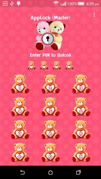 App Lock : Theme Teddy poster