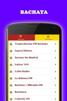 Música Bachata y Merengue gratis Radio screenshot 13