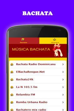 Música Bachata y Merengue gratis Radio screenshot 6
