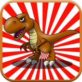 Two Dinosaur Crazy Race icon