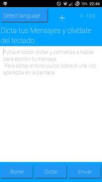 Dicta mensajes con tu voz apk screenshot