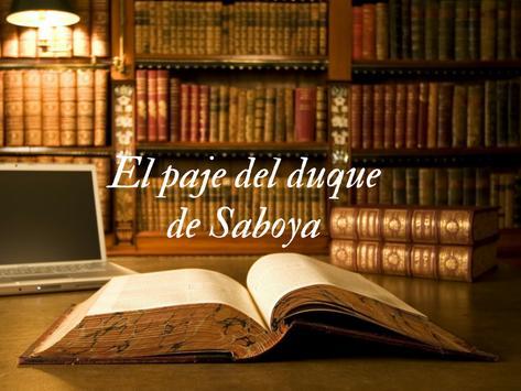 El paje del duque de Saboya de Alejandro Dumas poster